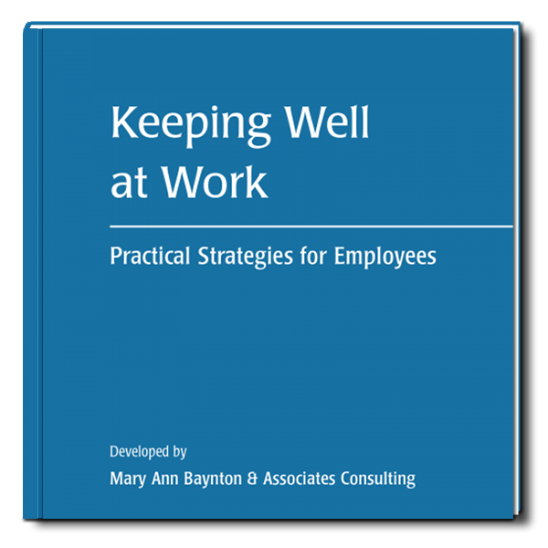 purchase the book, keeping well at work
