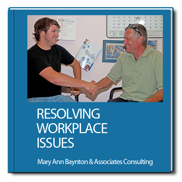purchase the book resolving workplace issues
